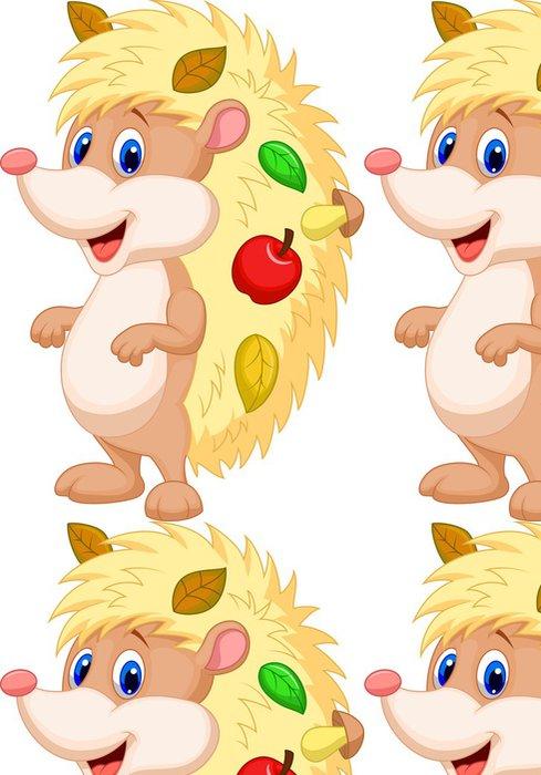 Tapeta Pixerstick Roztomilý ježek kreslený - Savci