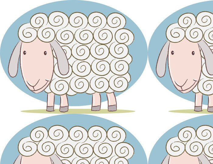 Tapeta Pixerstick Roztomilý ovce - Savci