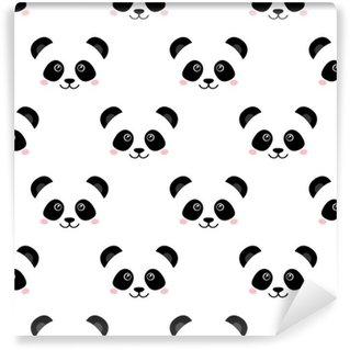 Vinylová Tapeta Roztomilý panda tvář. bezešvé tapety