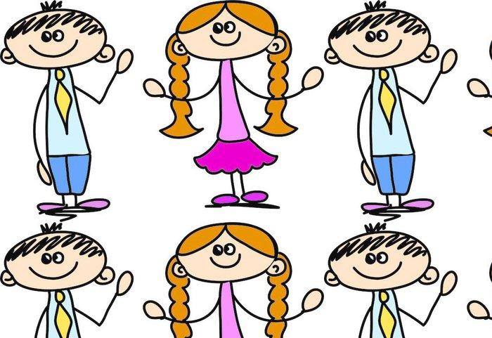 Tapeta Pixerstick Roztomilý šťastné děti - Děti