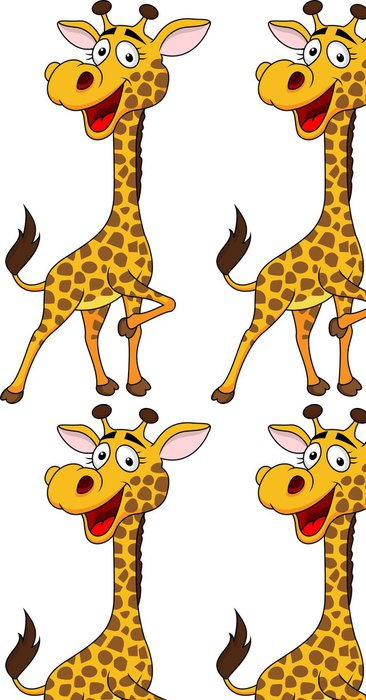 Vinylová Tapeta Roztomilý žirafa - Nálepka na stěny