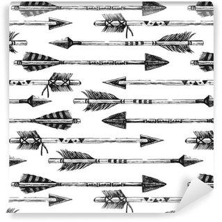 Tapeta Pixerstick Ručně malovaná bezešvé vzor s šipkami