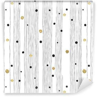 Tapeta Pixerstick Ručně tažené bezešvé vzor na bílém pozadí s tenká čára A