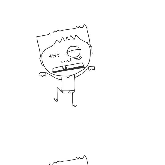 Tapeta Pixerstick Ruční kresba karikatura halloween - Mezinárodní svátky