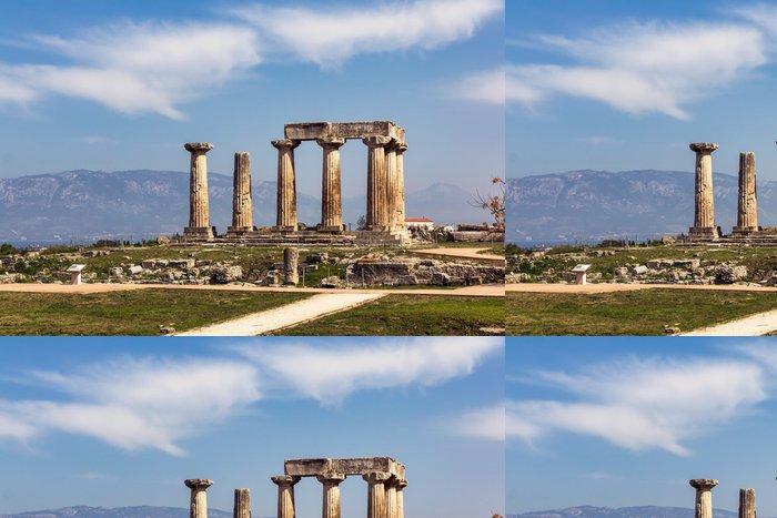 Tapeta Pixerstick Ruiny Apollonův chrám v Korintu, Řecko - Evropa
