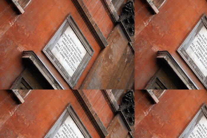 Tapeta Pixerstick Ruiny, latinský nápis, Řím - Evropská města