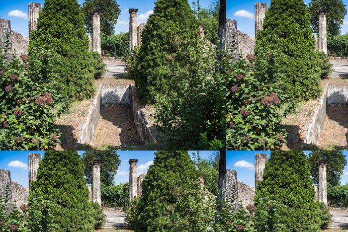 Tapeta Pixerstick Ruiny starověkého města Pompeje v Itálii - Evropa