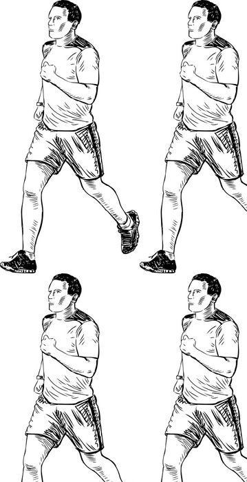 Tapeta Pixerstick Running Man - Individuální sporty