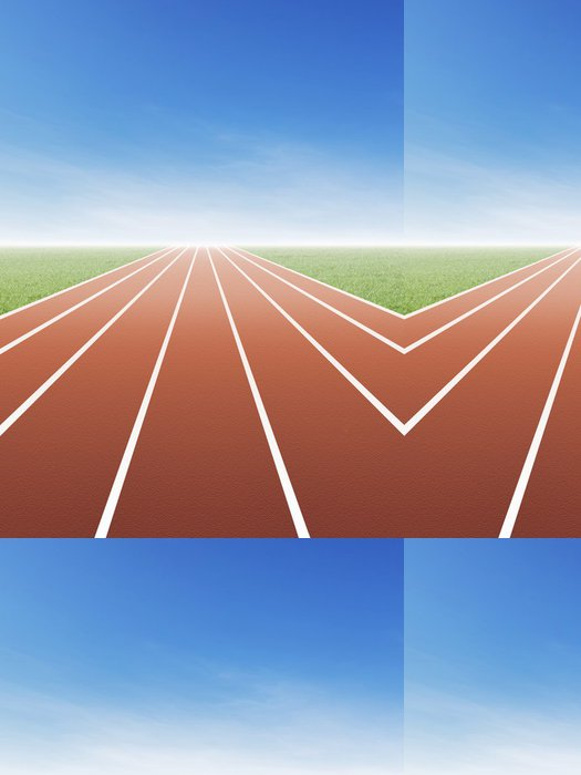 Tapeta Pixerstick Running Track - Individuální sporty