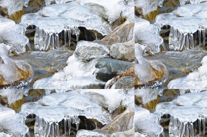 Tapeta Pixerstick Ruscllo di montagna ghiacciato - Alpi Marittime - Evropa