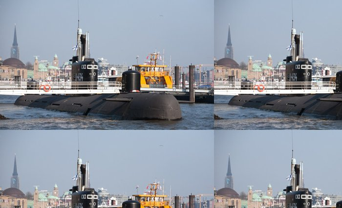 Tapeta Pixerstick Ruská ponorka v Hamburku - Lodě