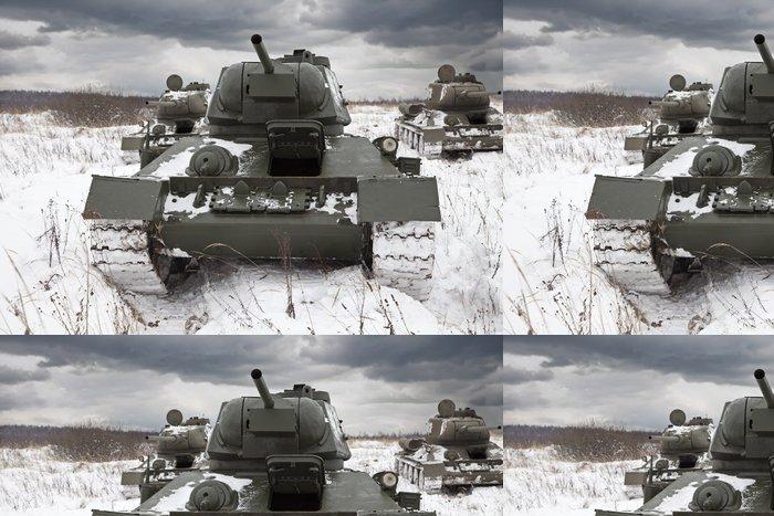 Vinylová Tapeta Ruských tanků - Témata