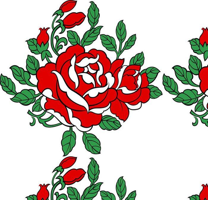 Tapeta Pixerstick Růže ilustrace - Květiny