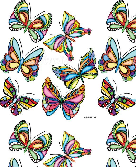 Vinylová Tapeta Různé barevné motýli - vektor - Nálepka na stěny