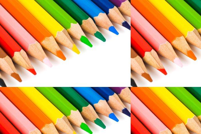 Tapeta Pixerstick Různobarevné tužky - Umění a tvorba