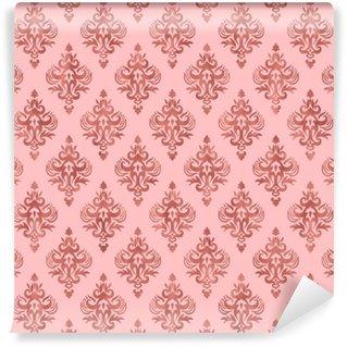 Vinylová Tapeta Růžová a růžová zlatá fólie textury - bezešvé damaškové vzory