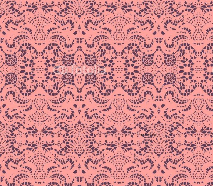 Tapeta Pixerstick Růžová krajka ubrousek - Struktury