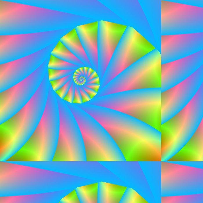 Tapeta Pixerstick Růžová modrá zelená Spiral - Témata