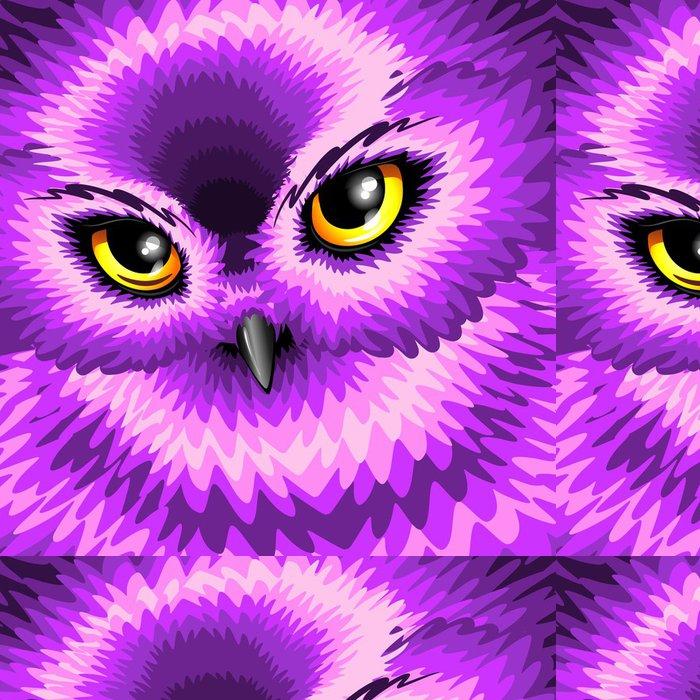 Tapeta Pixerstick Růžové Owl Eyes - Imaginární zvířata