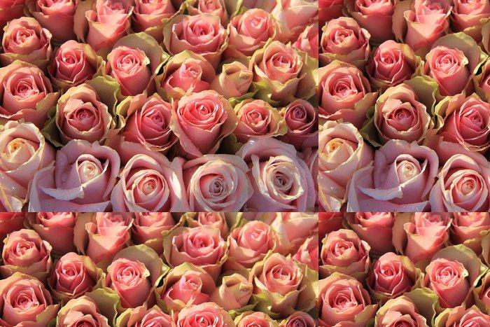 Vinylová Tapeta Růžové růže na svatební uspořádání - Prodej