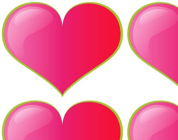 Tapeta Pixerstick Růžové srdce - Značky a symboly