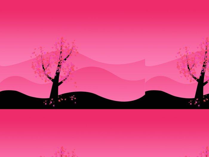 Tapeta Pixerstick Růžový strom - Stromy