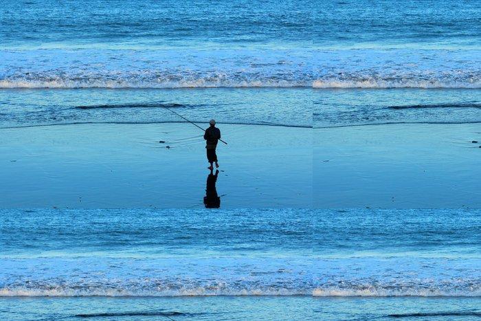 Tapeta Pixerstick Rybář v Sanur - Bali - Asie