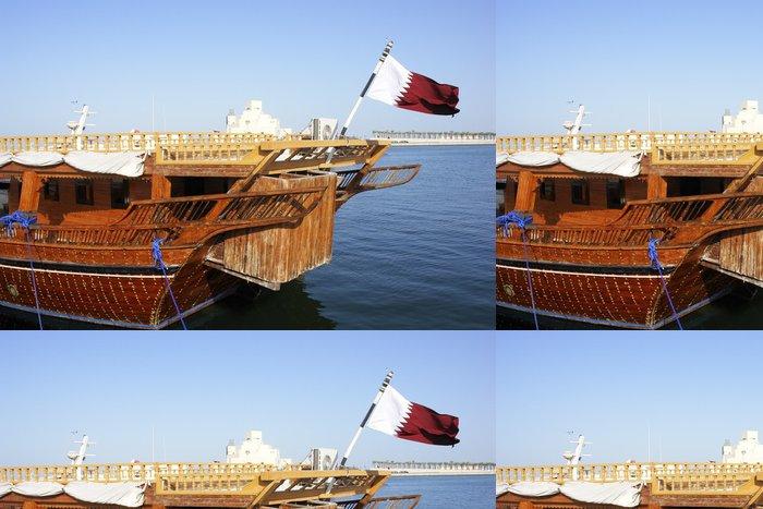 Vinylová Tapeta Rybaření Dhow v katarském Dauhá - Střední Východ
