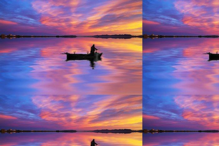 Tapeta Pixerstick Rybářské mraky - Prázdniny