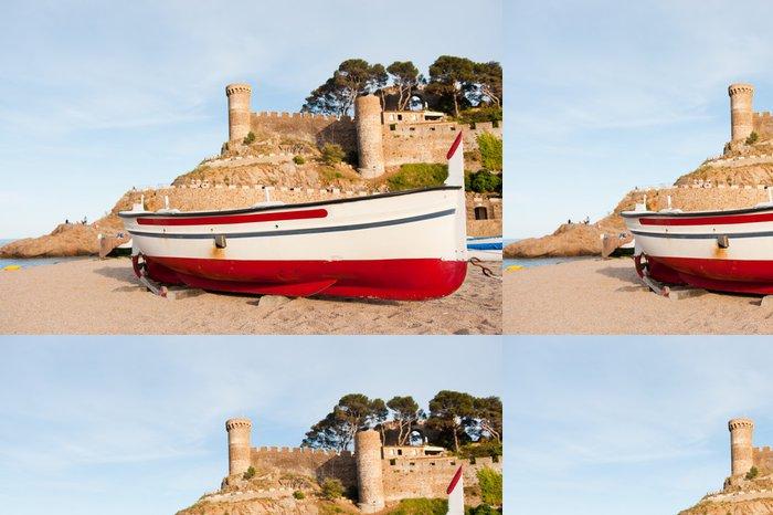 Tapeta Pixerstick Rybářský člun ve Španělsku - Prázdniny
