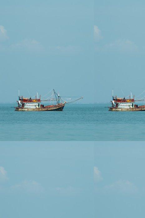 Tapeta Pixerstick Rybářský člun - Outdoorové sporty