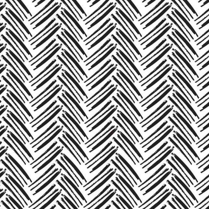 Tapeta Pixerstick Rybinové bezešvé vzor. Monochromatický vektoru vzor. namalovaný - Grafika