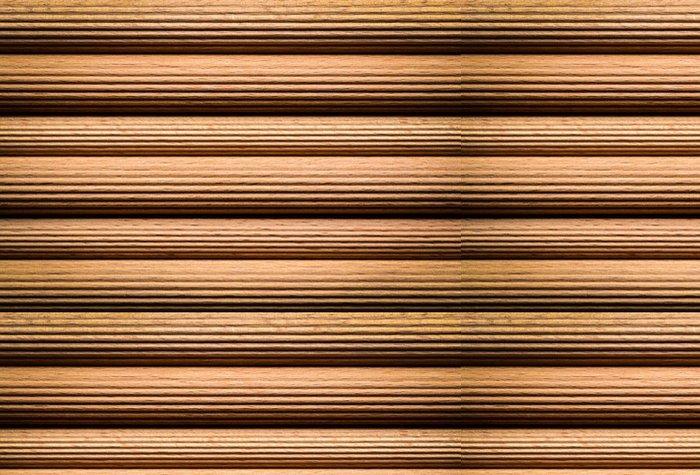 Vinylová Tapeta Rýhované dřevěné tyče - Struktury