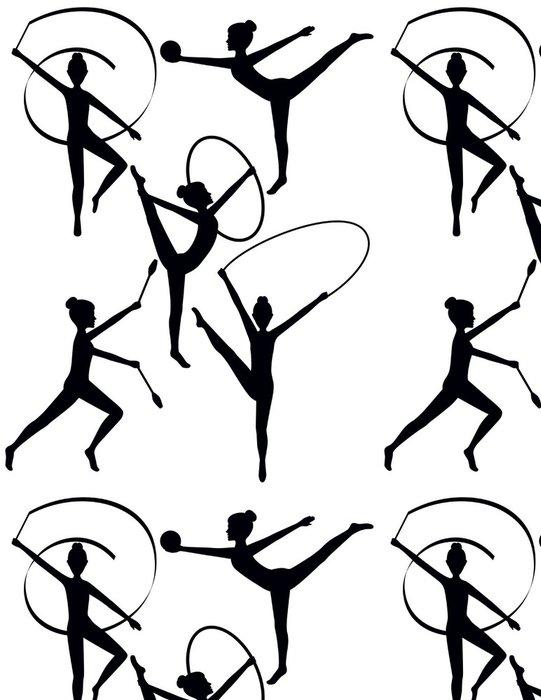 Tapeta Pixerstick Rytmický Gymnasti Siluety - Individuální sporty