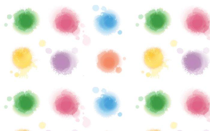Tapeta Pixerstick Sada Akvarel Spots - Umění a tvorba