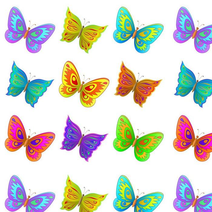 Tapeta Pixerstick Sada motýli - Roční období