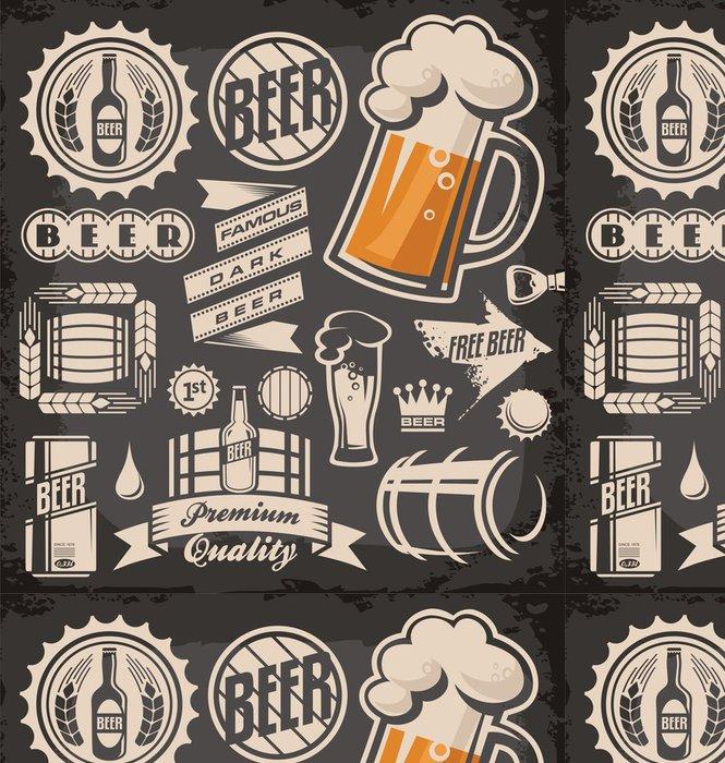 Tapeta Pixerstick Sada piva emblémů, symbolů a log - Prodej