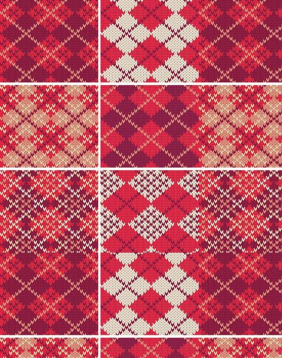 Tapeta Pixerstick Sada pletených vzorníků - Struktury