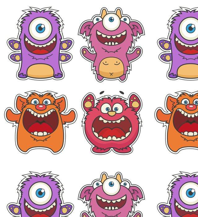 Tapeta Pixerstick Sada roztomilý kreslený Monsters - Osud