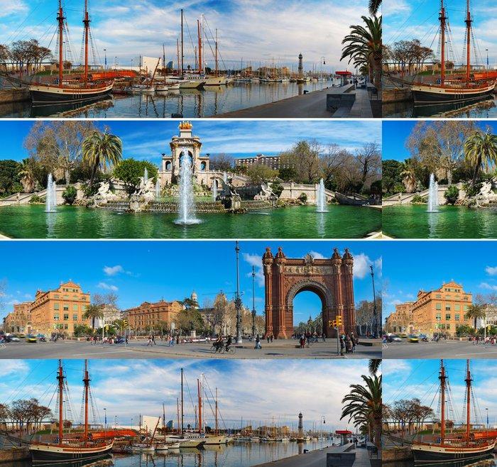 Tapeta Pixerstick Sada tří barcelonských zajímavostech panoramat - Evropská města