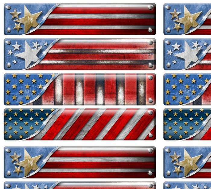 Vinylová Tapeta Sada USA Flags Grunge s ořezovou cestou - Úspěch