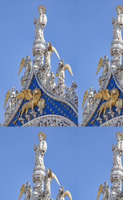 Tapeta Pixerstick Saint Mark evangelista a apoštol socha v Benátkách - Evropská města
