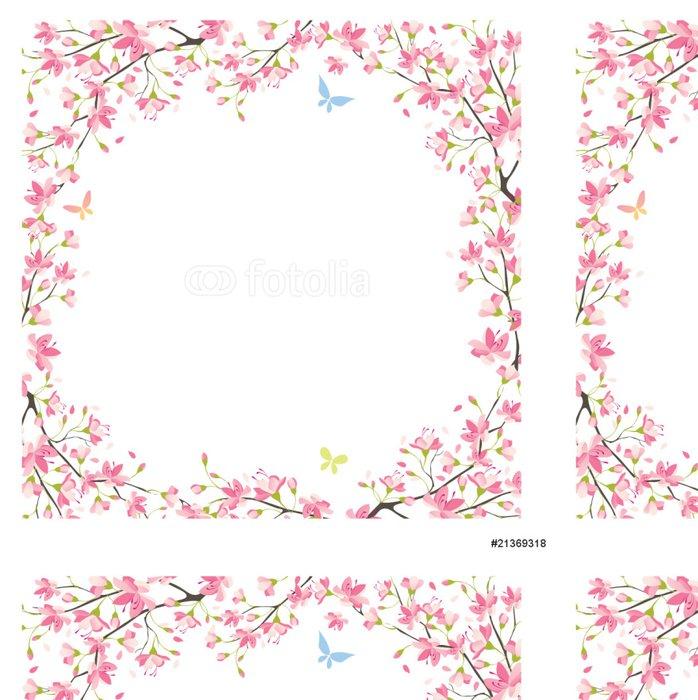 Vinylová Tapeta Sakura rám - Pozadí