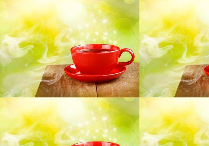 Tapeta Pixerstick Šálek čaje nebo kávy na kouzelnou slunné pozadí - Horké nápoje