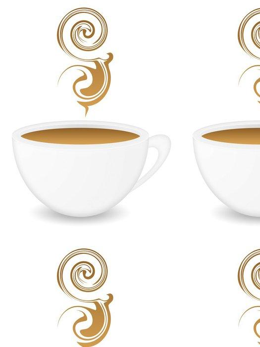 Tapeta Pixerstick Šálek kávy - Nálepka na stěny