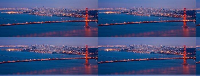 Tapeta Pixerstick San Francisco - noční panorama - Americká města