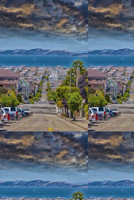 Tapeta Pixerstick San Francisco panorama pohled z kopců - Americká města