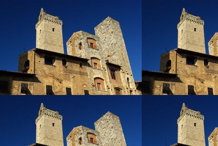 Tapeta Pixerstick San Gimignano: Torre Grossa e Torri Ardinghelli - Prázdniny