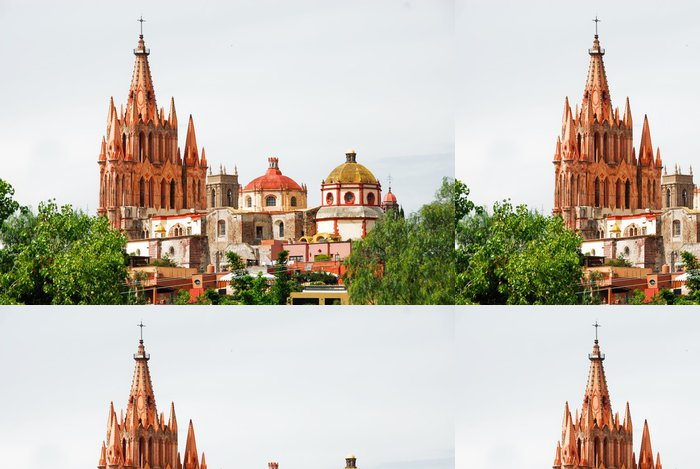 Tapeta Pixerstick San Miguel Arcangel církev, San Miguel de Allende (Mexiko) - Amerika
