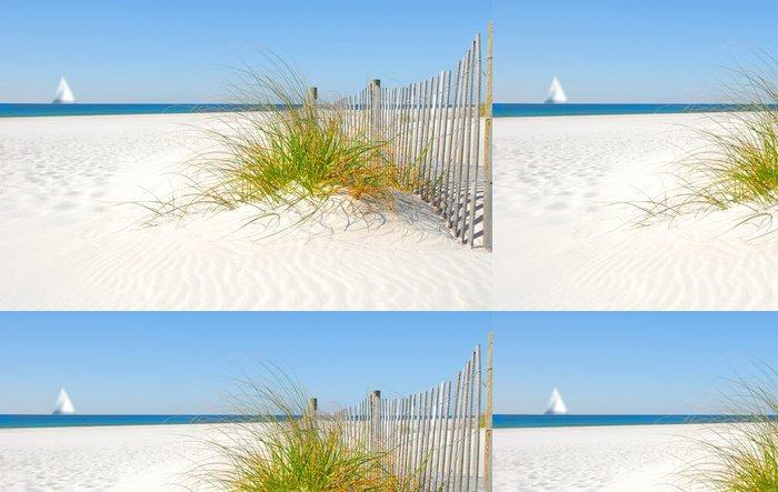Tapeta Pixerstick Sand Dune Fence a plachetnice - Prázdniny